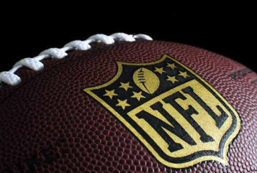 NFL ball with logo